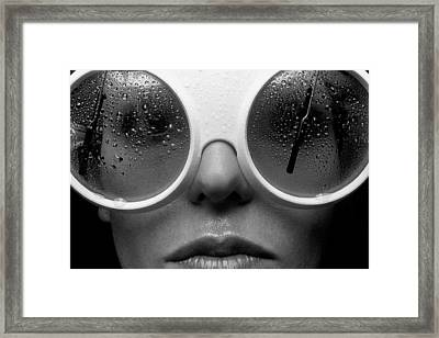 Misty Framed Print by Sandy Ostroff
