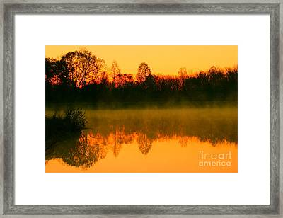 Misty Sunrise Framed Print by Morgan Hill