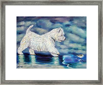 Misty - West Highland Terrier Framed Print by Lyn Cook