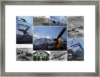 Mitchell B-25 Collage Framed Print by Don Struke