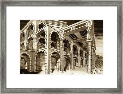 Mithlond Gray Havens Framed Print by Curtiss Shaffer