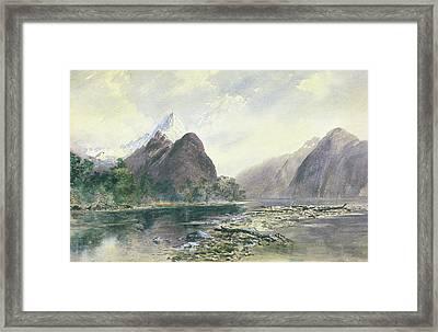 Mitre Peak, Milford Sound Framed Print by William Hodgkins