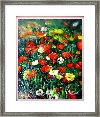 Mixed Puppies  Framed Print by Laila Awad Jamaleldin