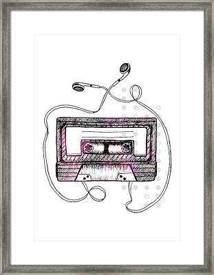 Mixtape Framed Print by Barlena