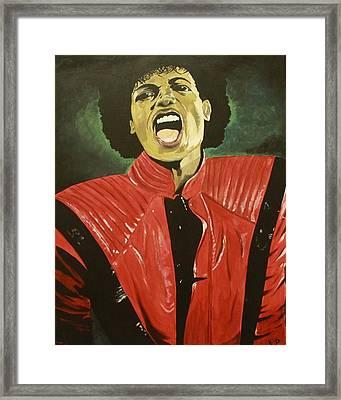 MJ Framed Print by Lakeisha Phillips