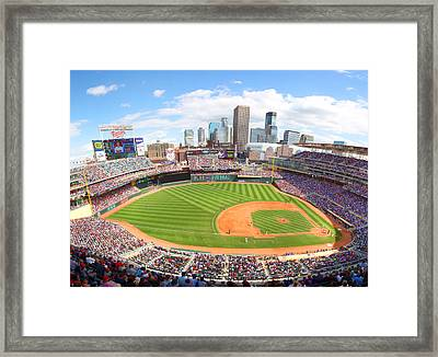 Mn Twins Target Field Framed Print by Michael Klement