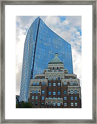 M N P Tower And Marine Building Vancouver 2015 Framed Print by Connie Fox