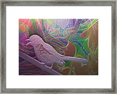 Mod Mocking Bird Framed Print by Kevin Caudill