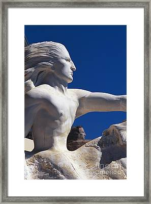 Model For Crazy Horse Monument Framed Print by David R. Frazier