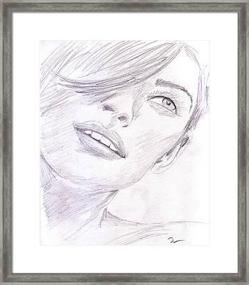 Model Framed Print by M Valeriano