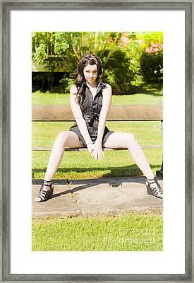 Model Framed Print by Jorgo Photography - Wall Art Gallery