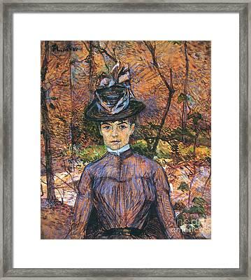 Model Suzanne Valadon 1884 Framed Print by Padre Art
