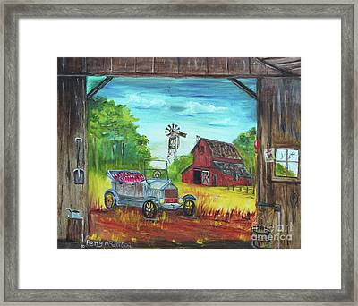 Model T Ford Framed Print by Betty McGregor