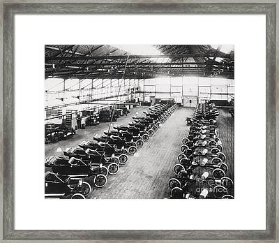 Model T Ford Factory Framed Print by English School
