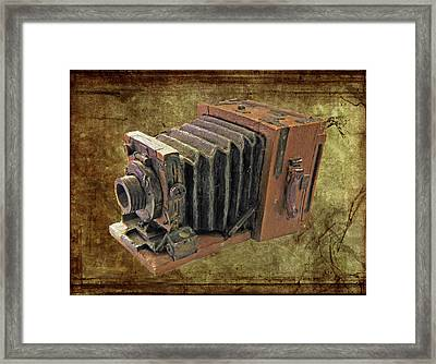 Model Vintage Field Camera Framed Print by Kenneth William Caleno