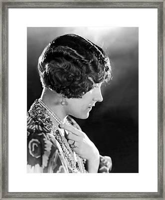 Model Wearing Her Hair In The Glorias Framed Print by Everett