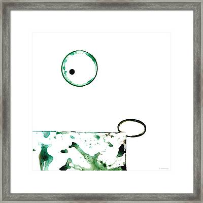 Modern Art - Balancing Act 1 - Sharon Cummings Framed Print by Sharon Cummings