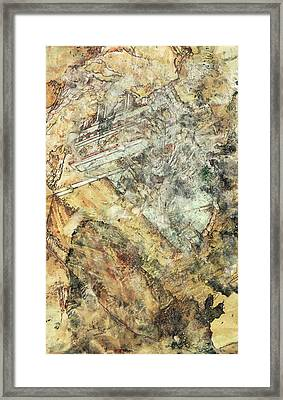 Modern Art - Hidden In Granite - Sharon Cummings Framed Print by Sharon Cummings