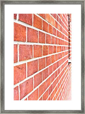 Modern Brick Wall Framed Print by Tom Gowanlock