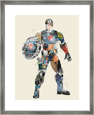Modern Captain America Framed Print by Bri B