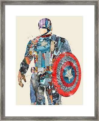Modern Captain America Framed Print by Bri B
