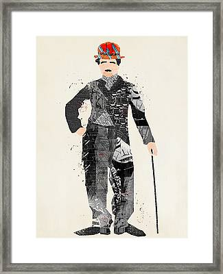 Modern Chaplin Framed Print by Bri B