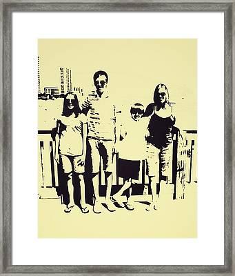Modern Day Single Mom Family Vacation  Framed Print by Sheri Buchheit