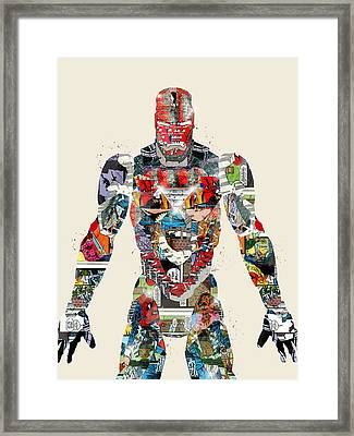Modern Ironman Framed Print by Bri B