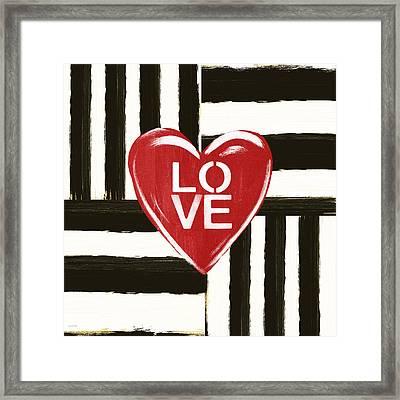 Modern Love- Art By Linda Woods Framed Print by Linda Woods