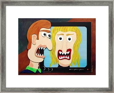Modern Love Framed Print by Sal Marino