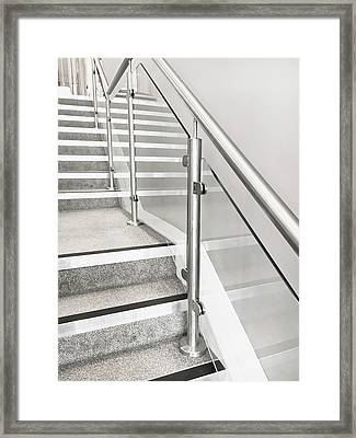 Modern Staircase Framed Print by Tom Gowanlock