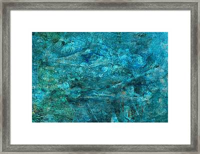 Modern Turquoise Art - Deep Mystery - Sharon Cummings Framed Print by Sharon Cummings