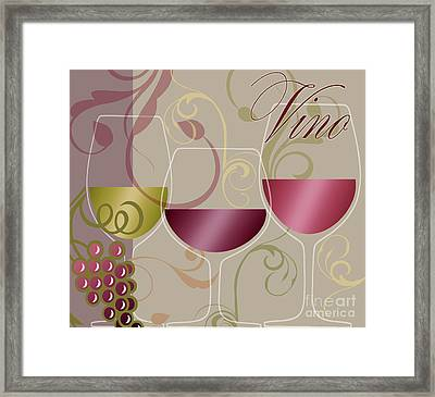 Modern Wine I Framed Print by Mindy Sommers
