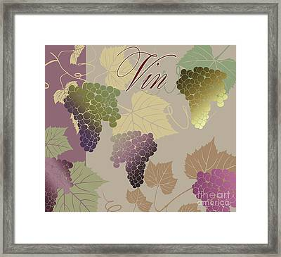 Modern Wine Iv Framed Print by Mindy Sommers