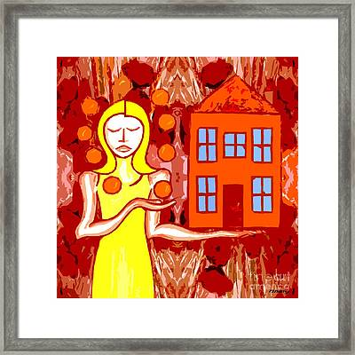 Modern Woman Framed Print by Patrick J Murphy