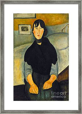 Modigliani: Woman, 1918 Framed Print by Granger