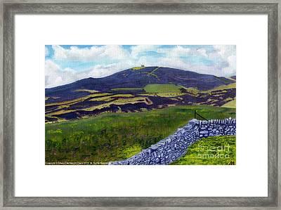 Moel Famau Hill Painting Framed Print by Edward McNaught-Davis