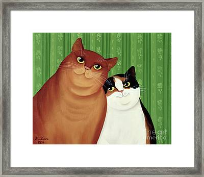 Moggies Framed Print by Magdolna Ban
