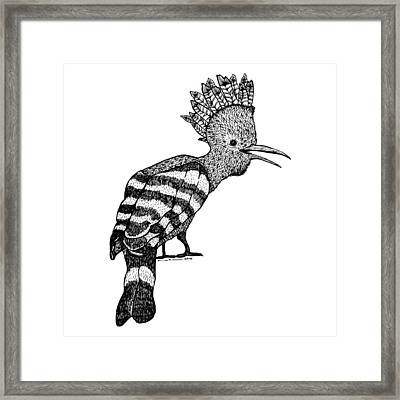 Mohawk Bird Framed Print by Karl Addison