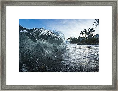 Mohawk Curl  -  Part 1 Of 3 Framed Print by Sean Davey