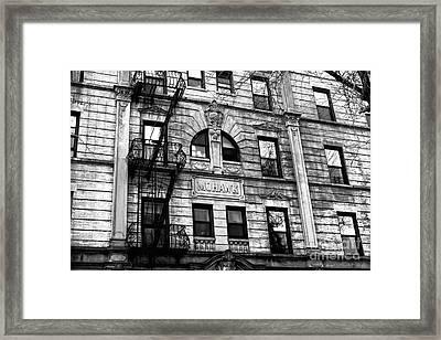 Mohawk In Park Slope Framed Print by John Rizzuto