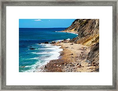 Mohegan Bluffs Framed Print by Karol Livote