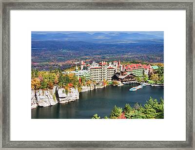 Mohonk Mountain House Framed Print by June Marie Sobrito