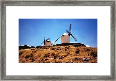 Molinos De Consuegra Framed Print by Julie Pacheco-Toye