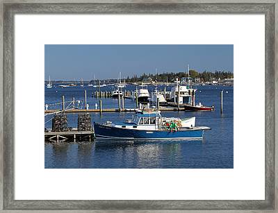 Molly Hock Of Southwest Harbor Framed Print by Juergen Roth