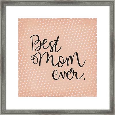 mom Framed Print by Nancy Ingersoll