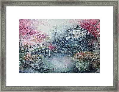 Momiji / Season Of Red Maple Leaves Framed Print by Rera Kryzhnaya