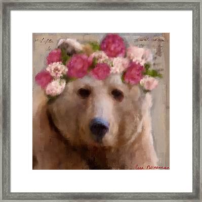 Momma Bear Framed Print by Lisa Noneman