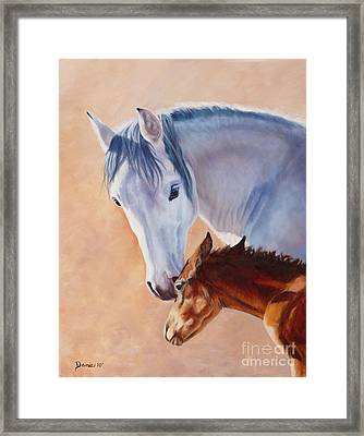 Mommy's Love Framed Print by Danielle Smith