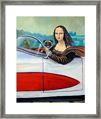 Mona Likes To Cut Loose On Weekends Framed Print by Lyn Cook